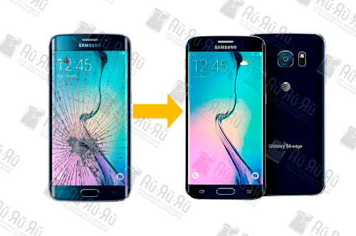 Замена стекла Samsung S6 Edge: Киев, Украина
