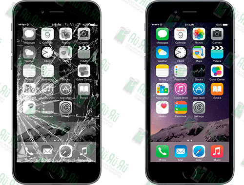 Разбилось стекло iPhone 6: Киев, Украина