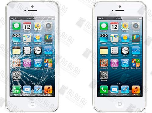Разбилось стекло на iPhone 5: Киев, Украина