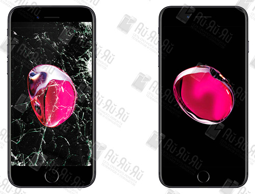 Разбилось стекло на iPhone 7: Киев, Украина