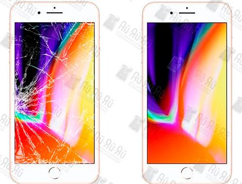 Разбилось стекло iPhone 8 Plus: Киев, Украина