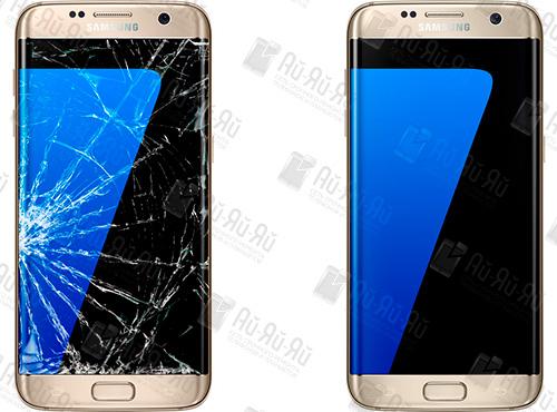 Разбилось стекло на Samsung S7 Edge: Киев, Украина