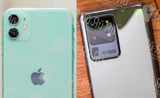 Сравнение iPhone 11 и Samsung S20: Киев, Украина